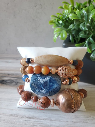 Bronze got the Blues bracelet set