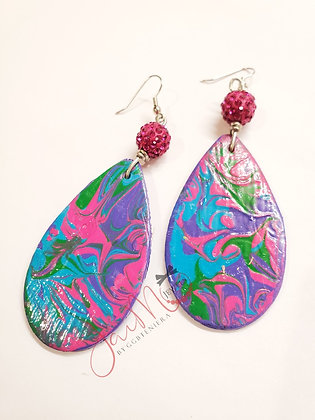 Psych-a-pretty hapa earrings