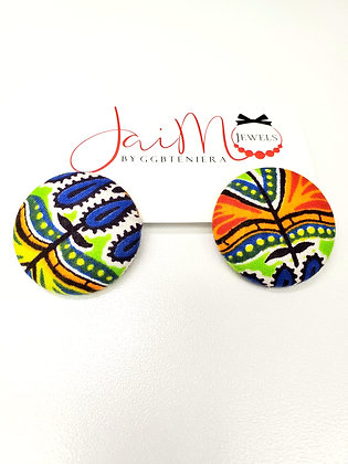 Dashiki (bog) button earrings