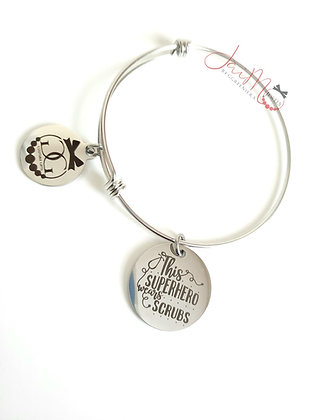 Superhero in Scrubs bangle