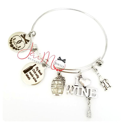 TLWine book club bangle