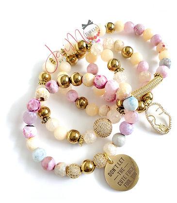 Cute face bracelet set