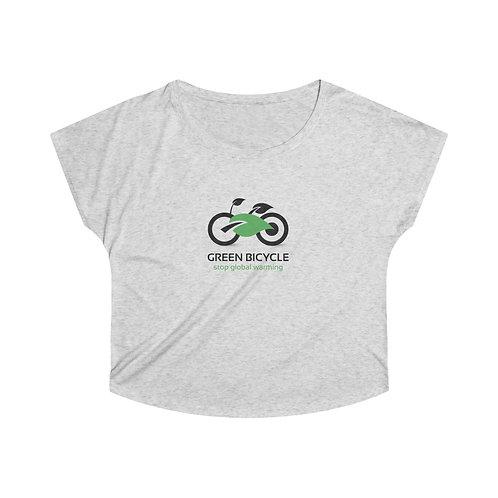 GREEN BICYCLE Women's Tri-Blend Dolman