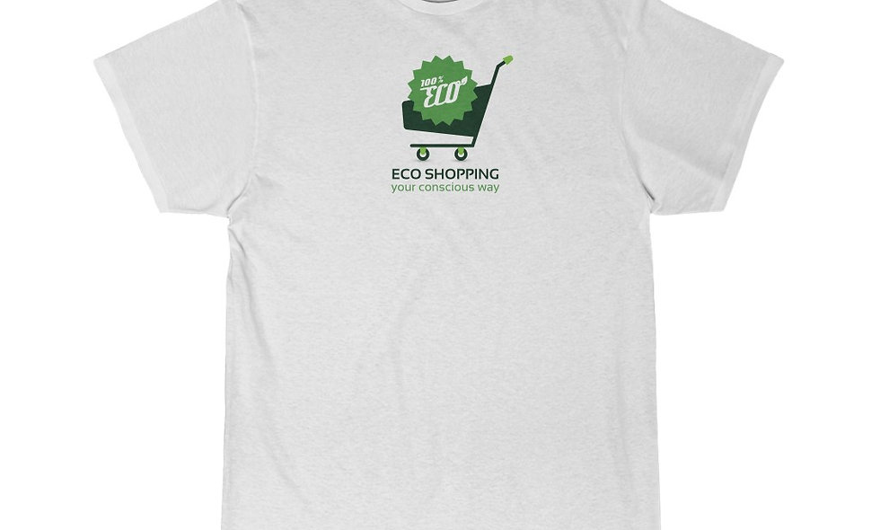 100% ECO SHOPPING Men's Short Sleeve Tee
