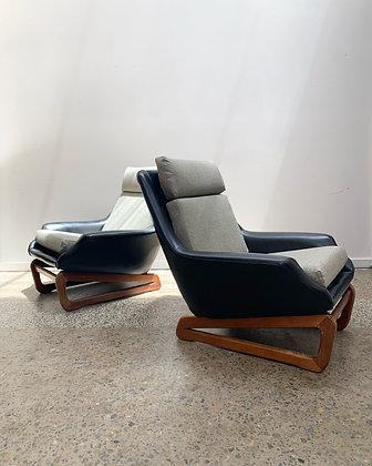 Pair of Danish Deluxe Armchairs