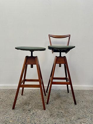 Original TH Brown stools/pair