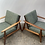 Thumbnail: Parker rattan back Armchairs | Pair