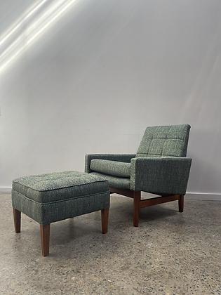 Fler 'Flerline' armchair and footstool