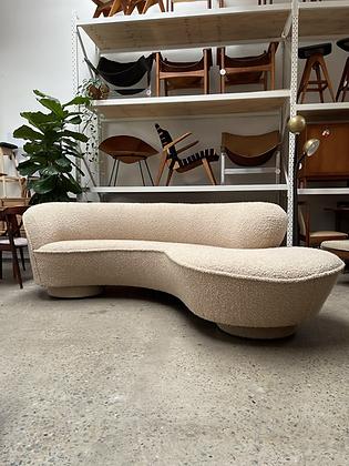 Curvy vintage sofa