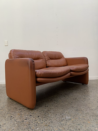 80's 2 seater leather sofa