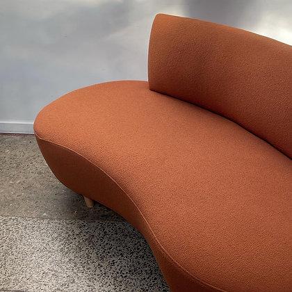 Curvy kidney vintage sofa