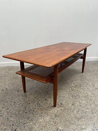 Parker coffee table/rattan shelf