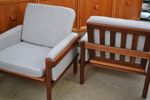 "Danish deluxe ""Rifka""armchairs"