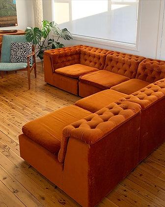 Fler velvet modular lounge
