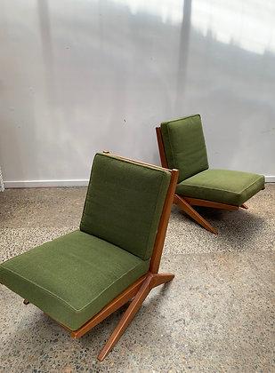 Parker Scissor Armchairs/Pair