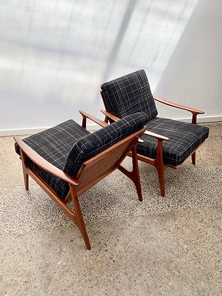 Parker lowback armchairs | Pair