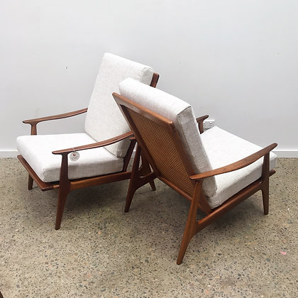 Parker highback Armchairs   Pair