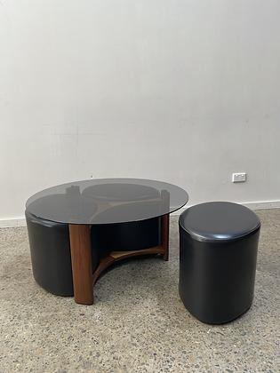 TH Brown 'Fondue' table