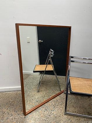 Teak framed floor mirror/Fler
