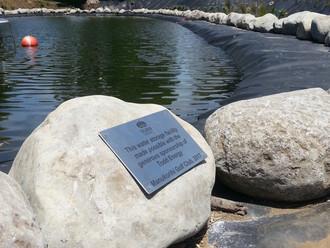 Todd Energy sponsored reservoir Todd plaque