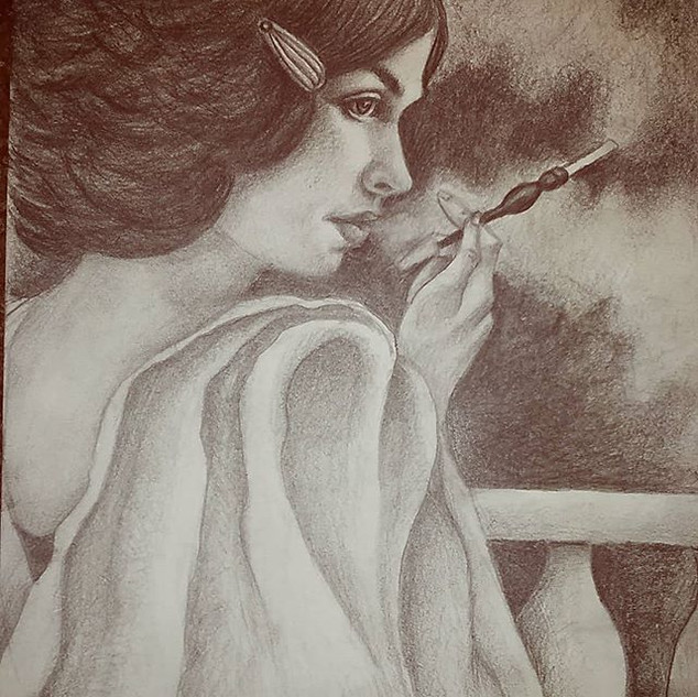 """Woman with cigarette"""