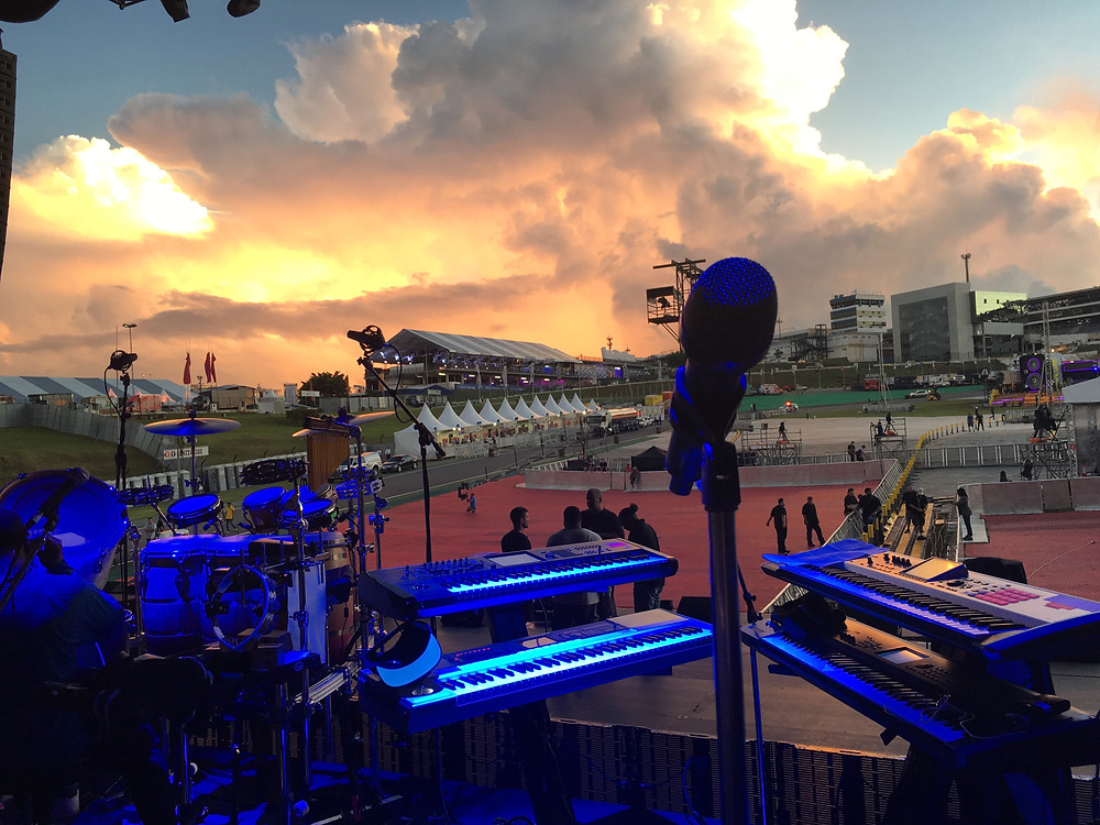 A beautiful sunset during soundcheck...