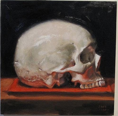 Skull on Red