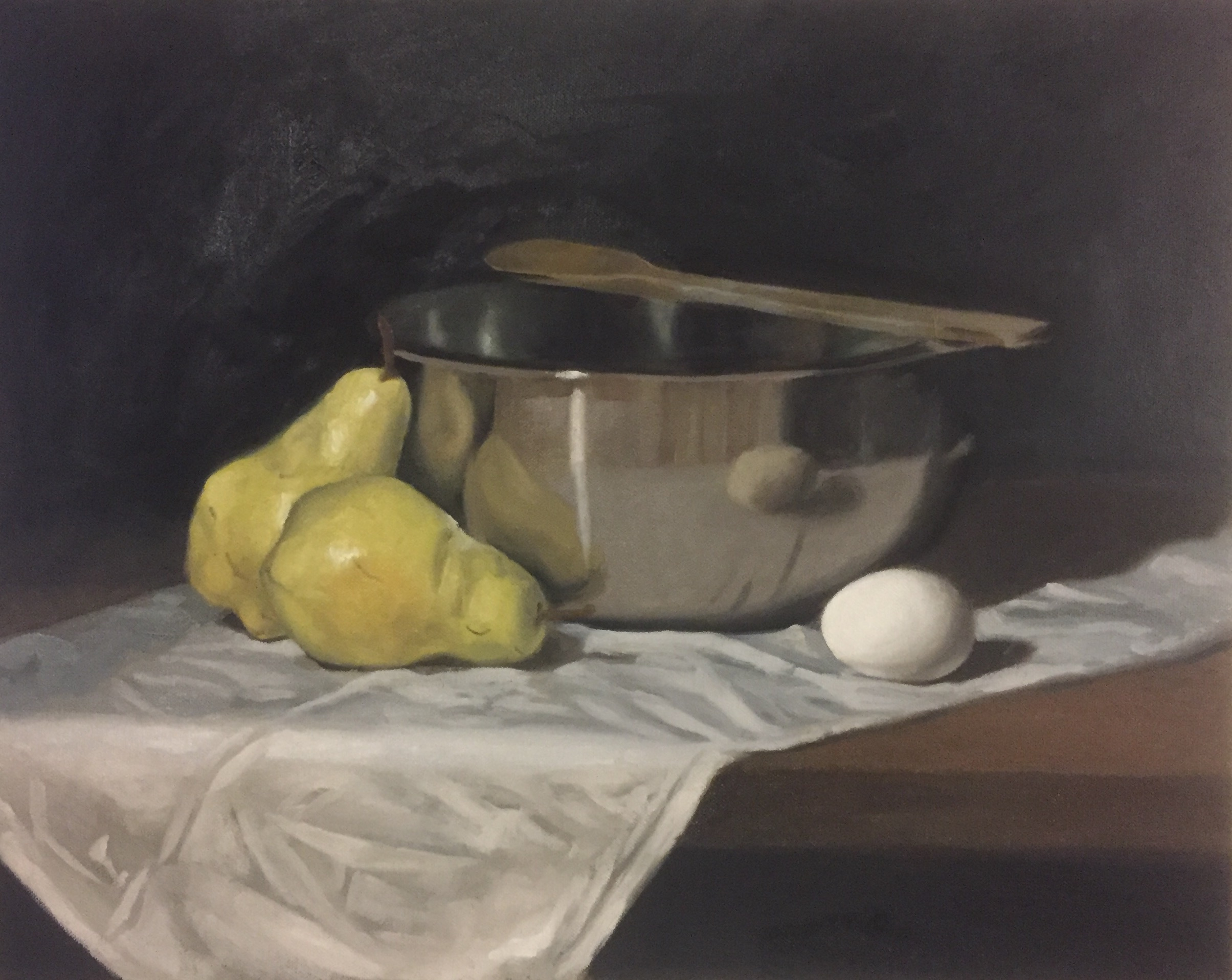 Bowl with Pears and Egg