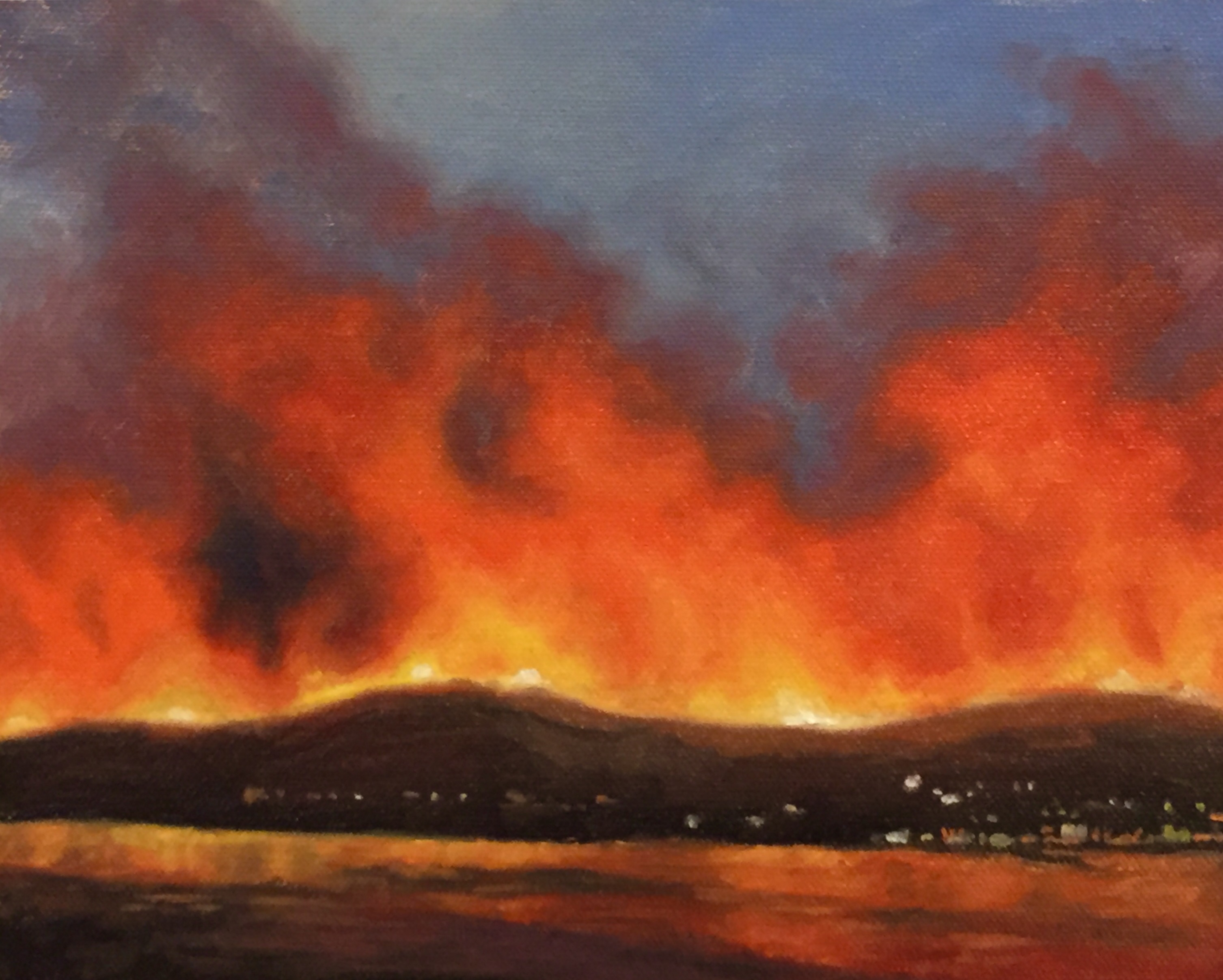 Wildfire study for 'Entropy'