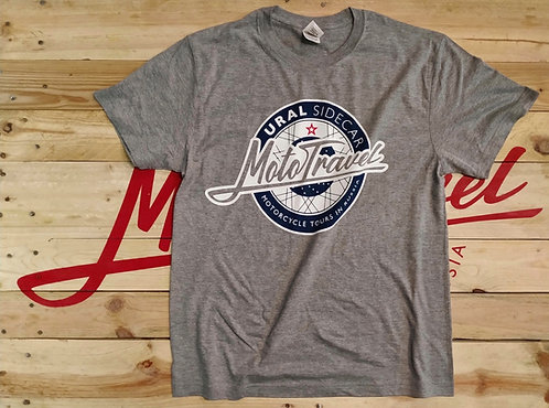 URAL MOTOTRAVEL logo T-shirt GREY