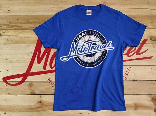 URAL MOTOTRAVEL logo T-shirt LIGHT BLUE