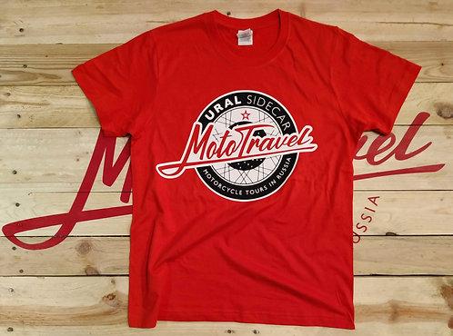 URAL MOTOTRAVEL logo T-shirt ORANGE