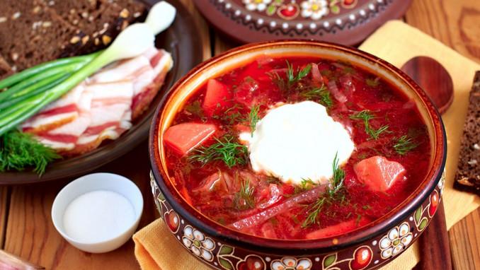 Traditional Russian Borsch soup