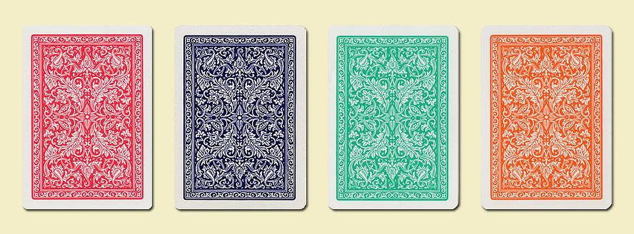 Комбинации цветов рубашек покерных карт FOURNIER 2818