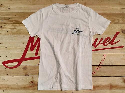 URAL MOTOTRAVEL logo T-shirt WHITE