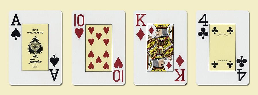 Карты для покера FOURNIER 2818 100% пластик