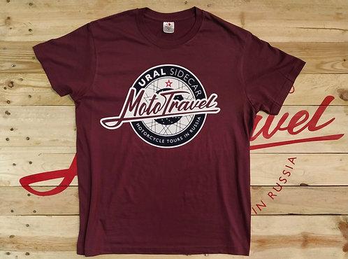 URAL MOTOTRAVEL logo T-shirt BURGUNDY