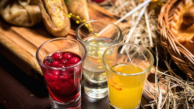 Traditional berry drinks
