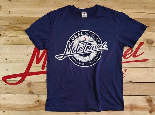 URAL MOTOTRAVEL logo T-shirt NAVY