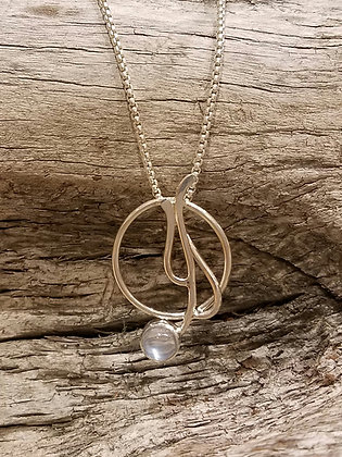 Moonstone Seagrass Necklace