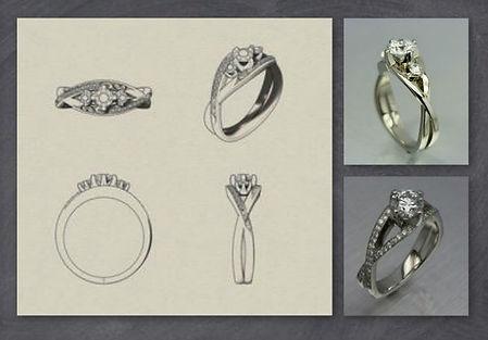 Diamond engagement ring design