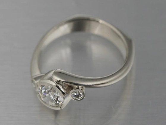 Bypass 3 Stone Diamond Ring