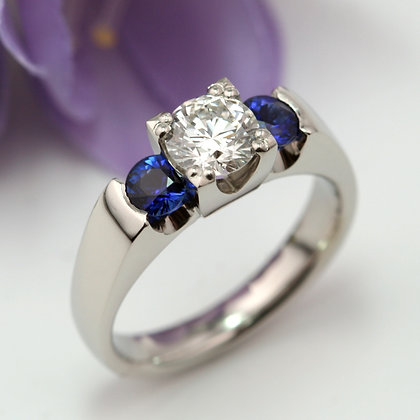 Three Stone Bridge, Sapphire and Diamond