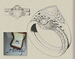 Diamond ring inspired by the Lord of the rings
