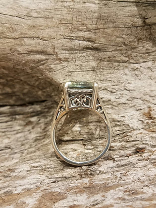 Relic Basket Green Quartz Ring
