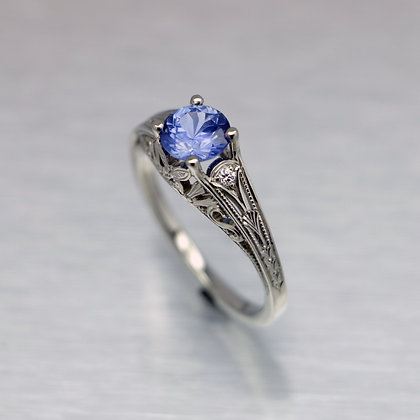 Tanzanite Butterfly Engagement Ring