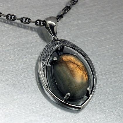 Relic Shield with Oval Labodorite