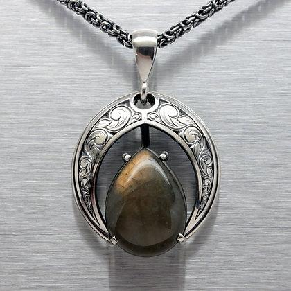 Relic Shield with a Tear Labodorite
