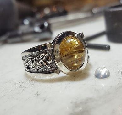Rutilated Quartz Relic Ring