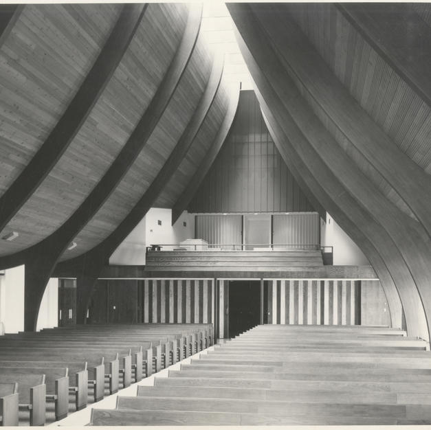 In 1963, Von Grossmann Architects won an Honor Award from the Wisconsin Chapter of the American Institute of Architects for the design of Covenant Lutheran Church. Courtesy of the Milwaukee County Historical Society.